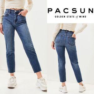 Pacsun vintage icon dark denim mid-rise jeans